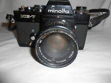 Minolta XE - 7 Camera MC Rokkor - X PF 1:1.7 F=50 mm ( For Parts or Repair) Lens