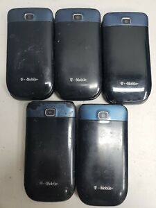 LOT 5pcs T-MOBILE Alcatel One Touch 768T Flip Phone Black/Blue Untested - AS IS