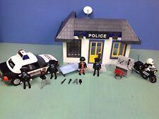 (O3159.3) playmobil  set police commissariat, voiture, moto ref 3159 3903