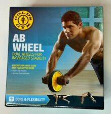 Gold's Gym AB Wheel Easy Build Arms Shoulders Abdomen 6pack Fitness Exercise