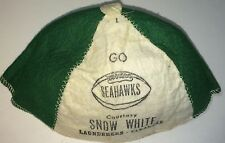 Rare Vintage American Advertising Kids Hat Seahawks Football! Snow White Laundry