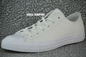 Converse CTAS II OX Chuck Taylor ALL STAR 153116C White NEW IN BOX MENS CT AS