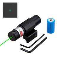 Green Dot Laser Sight Rifle Gun Scope Rail Barrel Mount Rail Switch 14250 Light