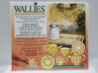 "2005 Mary Engelbreit ""Wallies"" Teacups. Wallpaper Cutouts. New In Package!"