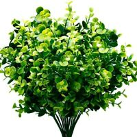 Artificial Plants Faux Boxwood Shrubs 6 Pack,Lifelike Fake Greenery Foliag R2M3