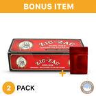Zig Zag Full Flavor Red 100mm Cigarette 2 Boxes 200 Tubes Per Box & Bonus Case