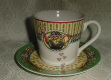 2003 Mary Engelbreit Be Warm Inside & Out Christmas Cup & Saucer - No Box or Tag