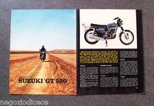 BD95 - Clipping-Ritaglio -1973- IMPRESSIONI DI GUIDA , SUZUKI GT 550