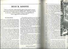 CHARLES de LINT INTERVIEW OF DEAN KOONTZ  in FANTASY REVIEW 7/87