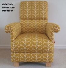 Orla Kiely Linear Stem Fabric Adult Chair Dandelion Armchair Mustard Bedroom New
