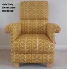 Orla Kiely Linear Stem Fabric Adult Chair Dandelion Armchair Mustard Bedroom New