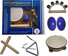 Kinder-Percussion-Set, Kinder Instrumente, 8-teilg aus Holz, Orff-Instrumente