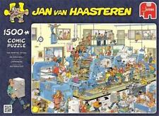 JUMBO PUZZLE THE PRINTING OFFICE JAN VAN HAASTEREN 1500 PCS CARTOON #19039