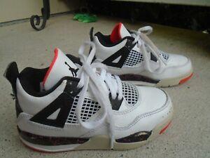 Nike Air Jordan IV 4 Retro PS White Black Crimson Kid's 11C  BQ7669-116