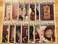 Cross Stitch and Country CraftMagazines - lot of 14 PREMIER ISSUE - DEC 89 read