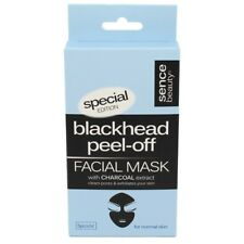 SENCE BEAUTY BLACKHEAD PEEL OFF FACIAL MASK WITH ACTIVE CHARCOAL EXTRACT 5 X 8g