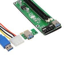 usb3.0 PCI-E Express 1x to 16x Extensor Elevador Tarjeta Adaptador para Eth GPU