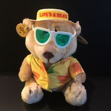 "Vintage Russ Plush ""Life's a Beach"" Bear- New"