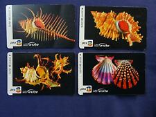 LOT OF 4 PHONE CARDS ISRAEL TELECARD BEZEQ 20 UNITS EACH SEA SHEALLS Collection