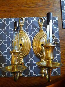 2 Brass Wall Lights