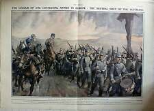 1914 The Colour Of Contesting Armies In Europe,
