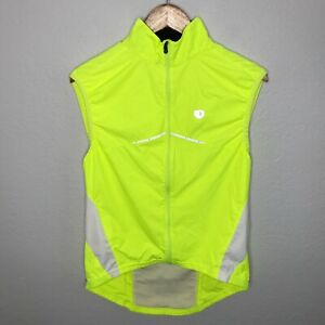 Pearl Izumi Lightweight Vented Vest Women's Small Full Zip Neon Yellow