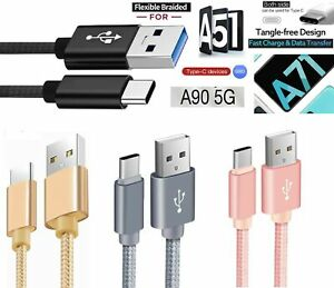 for Samsung A51 A71 A41 Type c Phone Charging Cable Sync Fast Charger Lead Wire