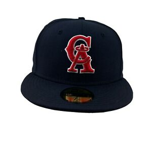 New Era California Angels hat cap Navy  Gooperstown  5950 Fitted size- 7 1/4