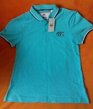 Canterbury Mens Polo Shirt Turquoise Blue Uglies Rugby Shirt Top Size S BNWT