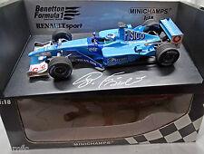 BENETTON RENAULT B201 Giancarlo FISICHELLA F1 signed autografato 1/18 NO SPARK