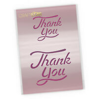 Thank You Stencil - Calligraphy Style Card Making / Crafting / Airbrush Template