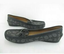 Pair of Coach Olive Womens Black Signature Olive Loafers Sz 8.5