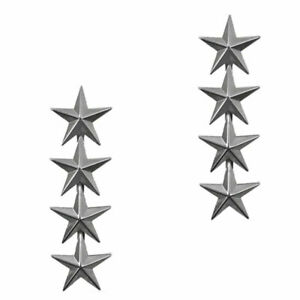 Pair U.S. Army officer rank insignia General Four Star Rank Badge Pins