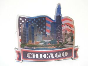 Chicago Illinois Laser Magnet Hancock Tower Illinois Souvenir (933)