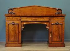 Attractive Large Antique Victorian Mahogany Twin Pedestal Sideboard Cabinet