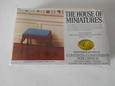 New Listing House Of Miniatures Chippendale Bench Kit 1:12 Scale for dollhouse