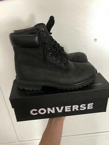 MAKE OFFER Black timberland boots 10.5