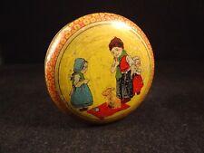 Ancienne rare boîte ronde bonbon confiserie enfant lapin tôle lithographiée 1910