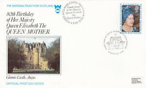 (63426) GB National Trust FDC 80th Birthday Glamis Castle 1980