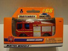 Matchbox Dennis Sabre Fire Ladder Truck Box #68 1:64 Diecast C49-43