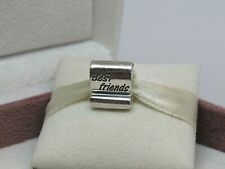 New w/Box Pandora BEST FRIENDS SCROLL Charm #790512 RARE AND RETIRED