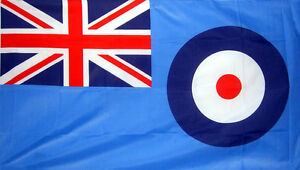 5' x 3' RAF Flag British Royal Air Force Blue Ensign WW2 Banner