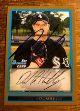 David Holmberg Autographed Signed 2009 Topps 1 Bowman BDPP44 Chicago White Sox