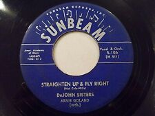 DeJohn Sisters Straighten Up & Fly Right / Wrong Guy 45 1958 Vinyl Record