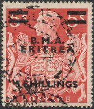 BRITISH OCC OF ITALIAN COL (ERITREA)-1948-49 5/- on 5/- Red Sg E11 FU V45166