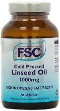 FSC Cold Pressed Linseed Oil 1000mg 90 Capsules