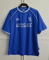 MINT! Chelsea London 1999/2000/2001 Vintage Football Shirt Jersey Umbro Size 2XL