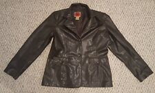 RVT Clothing Women's Brown Distressed Faux Leather Jacket Coat Size Large