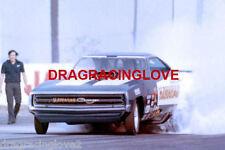 """Hawaiian"" Larry Reyes 1970 Dodge Charger with Roland NITRO Funny Car PHOTO!"