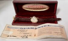 .Vintage 1956 Longines Conquest Automatic Wrist Watch 9002 Box & Papers!
